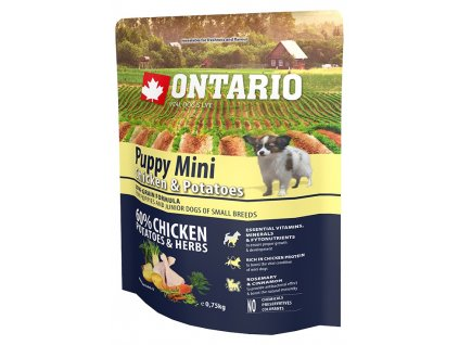 ontario puppy mini chicken potatoes 0 75kg original