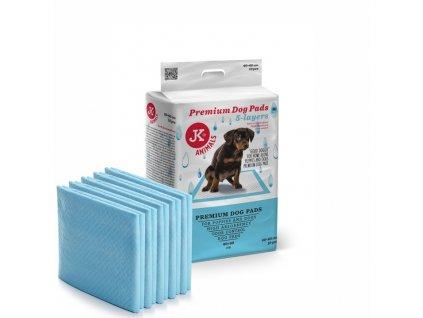 48831 jk animals premium dog pads podlozky pro stenata a psy 60 60 cm 10 ks 1