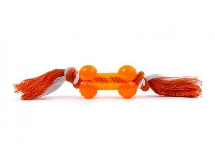 45950 2 jk animals tpr kost plus bavlneny uzel oranzova 8 5 cm 1