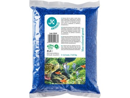 Dekorační štěrk modrý 0,5 kg