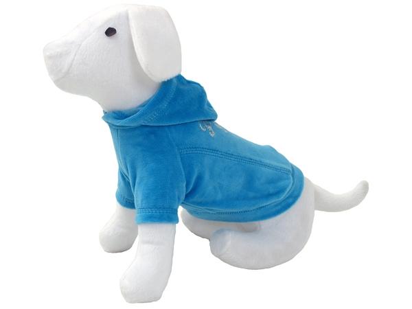 Triko DOG FANTASY s kapucí modré 25 cm