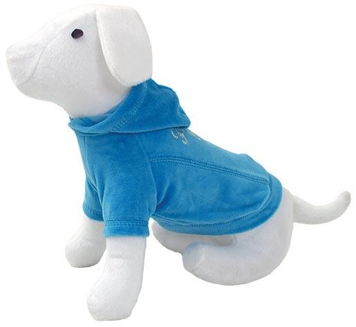 Triko DOG FANTASY s kapucí modré 30 cm