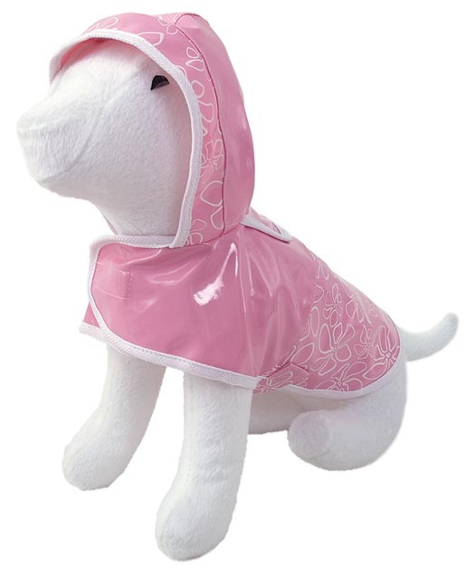 Pláštěnka DOG FANTASY DeLuxe růžová 45 cm
