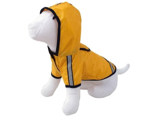 Pláštěnka DOG FANTASY reflexní žlutá 45 cm