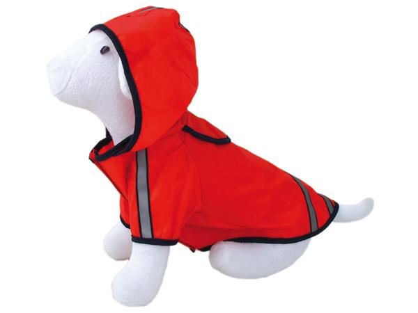 Pláštěnka DOG FANTASY reflexní červená 45 cm