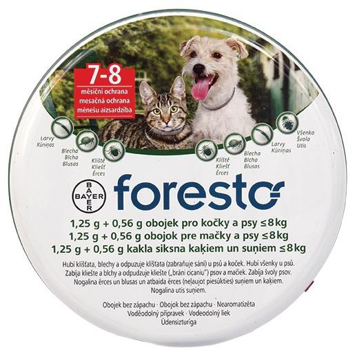 Obojek Foresto antiparazitní kočka a malý pes do 8 kg 38 cm