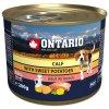 Konzerva ONTARIO Dog Mini telecím masem a batáty 200 g