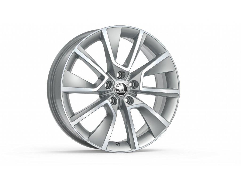 BRAGA 18 ve stříbrné barvě pro vozidla Karoq 57A071498E 8Z8