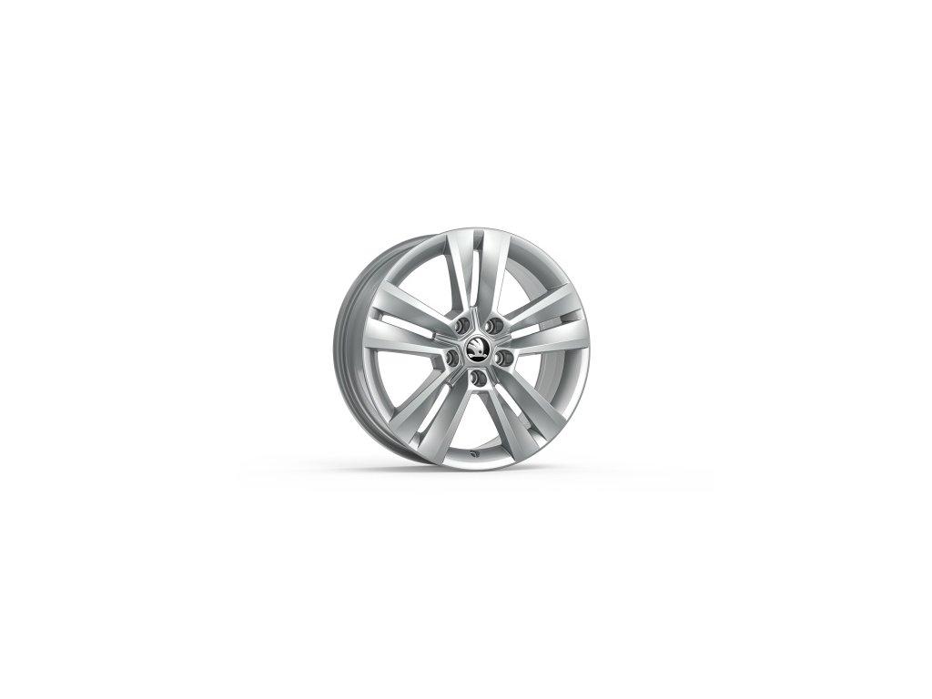 Broušené kolo z lehké slitiny MYTIKAS 18 ve stříbrné barvě pro vozidla Karoq 57A071498C 8Z8