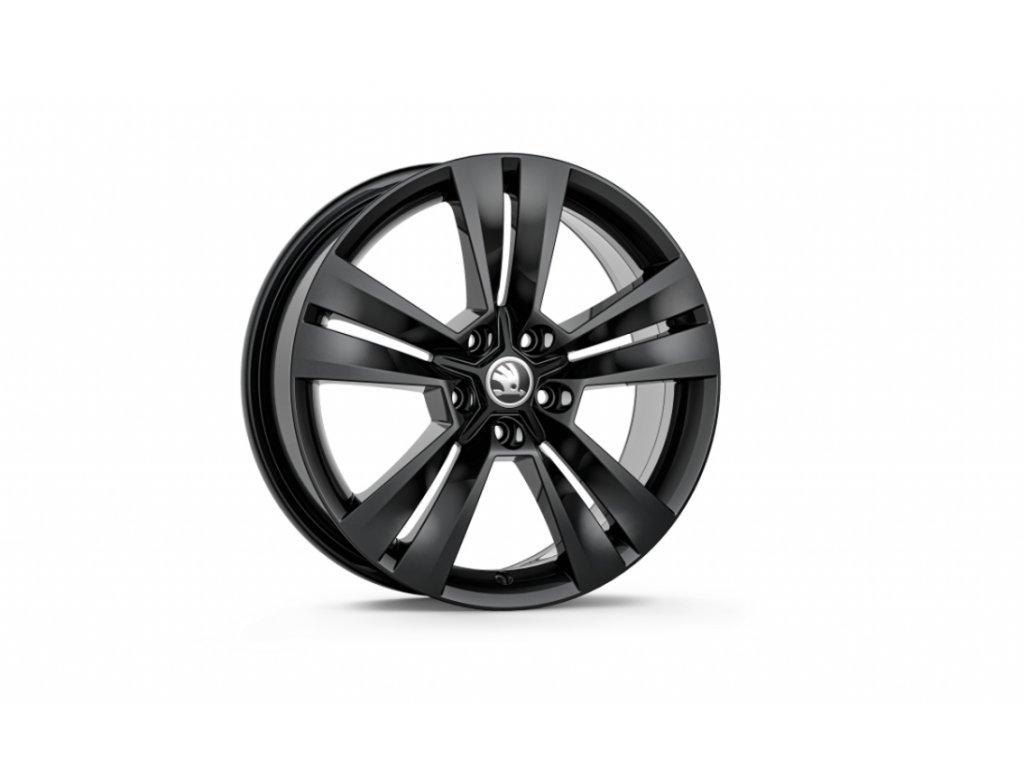 MYTIKAS 18 v černé metalické barvě pro vozidla Karoq 57A071498D FL8