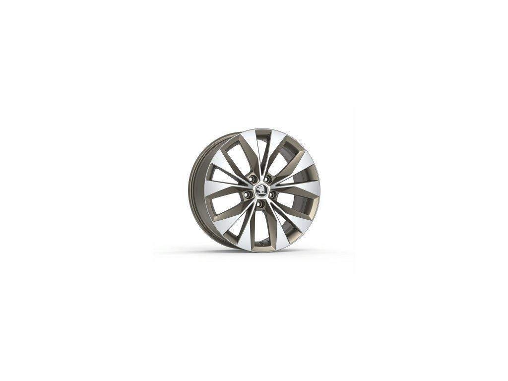 """Kolo z lehké slitiny CASSIOPEIA 18"""" v matné platinové barvě pro vozidla Superb III"""