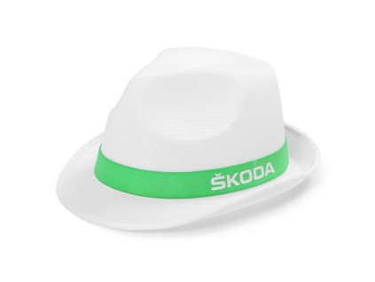 Bílý klobouk ŠKODA