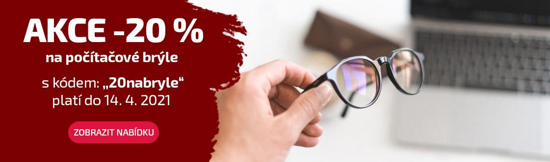 Akce -20 % na brýle