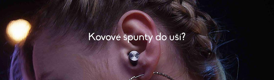 Kovové špunty do uší