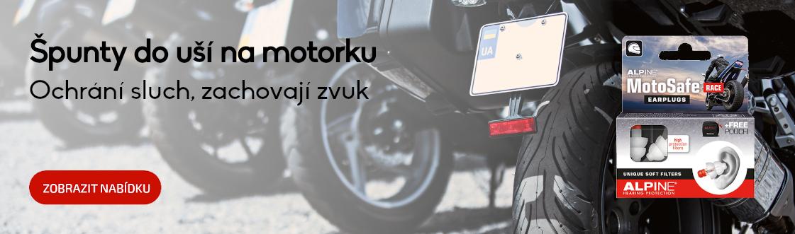 Špunty na motorku