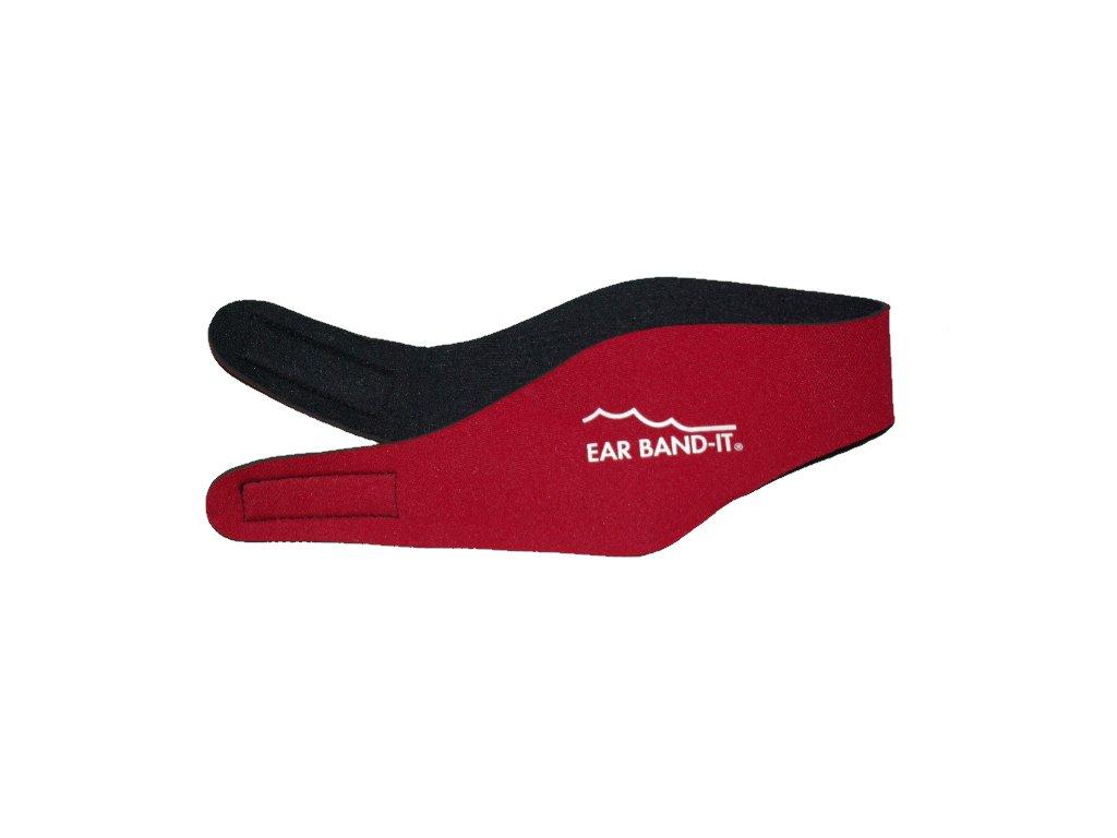 Ear Band-It® Červená  Čelenka na plavání