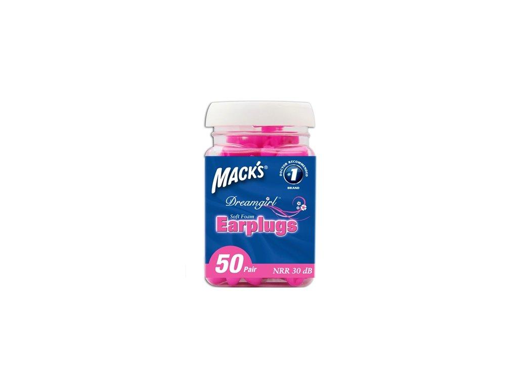 Růžové špunty Mack's Dreamgirl 50 párů