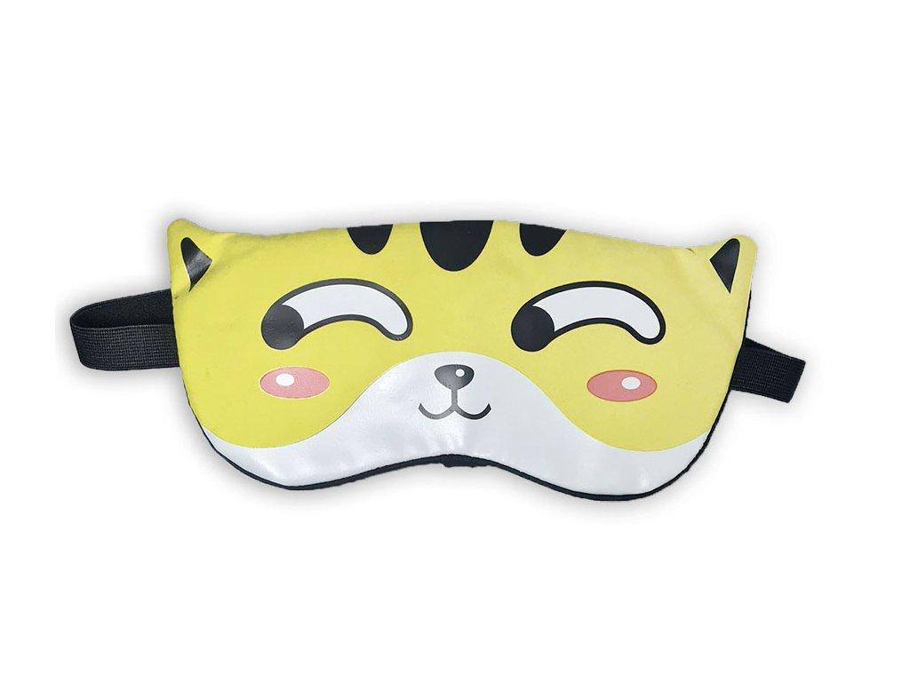 Maska na oči na spaní Žlutý tygr