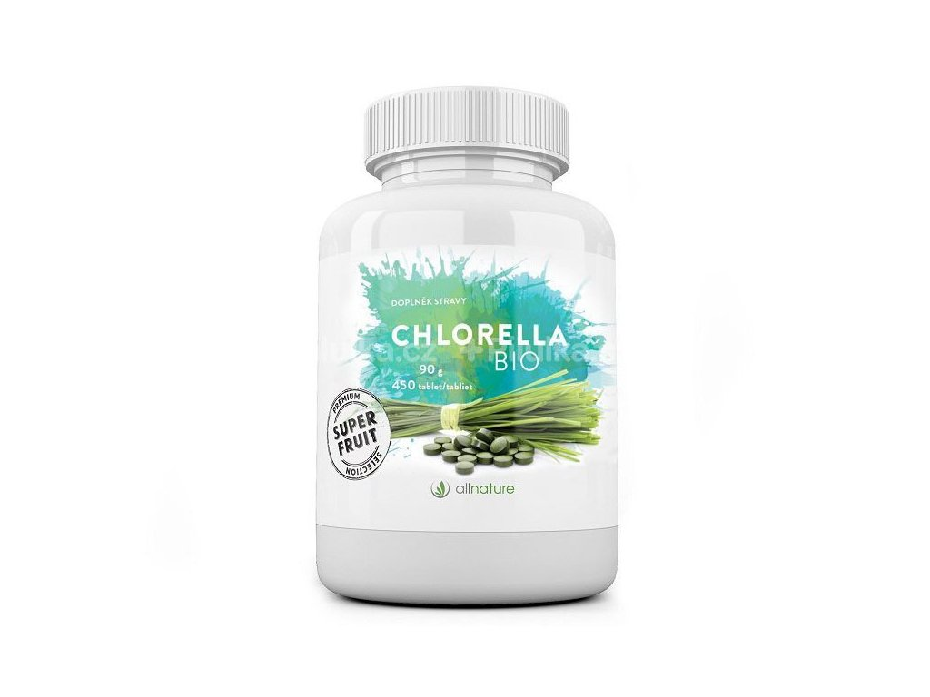 Allnature Chlorella Bio 90 g 450 tbl