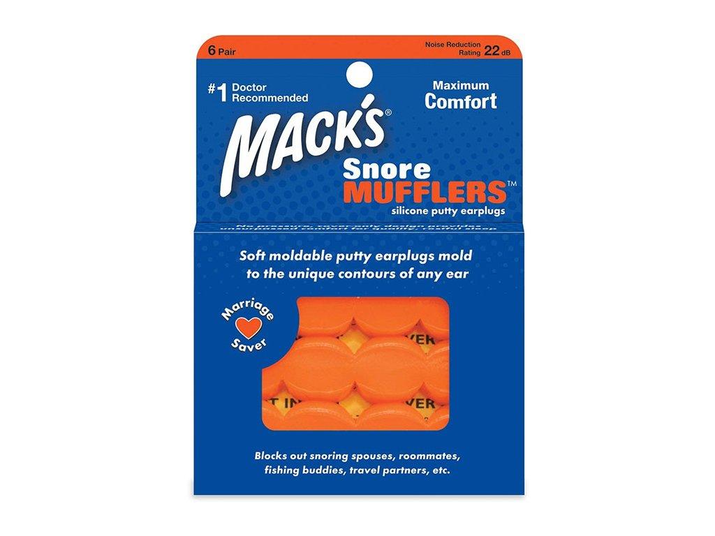 Špunty proti chrápání Mack's Snore Mufflers 6 párů