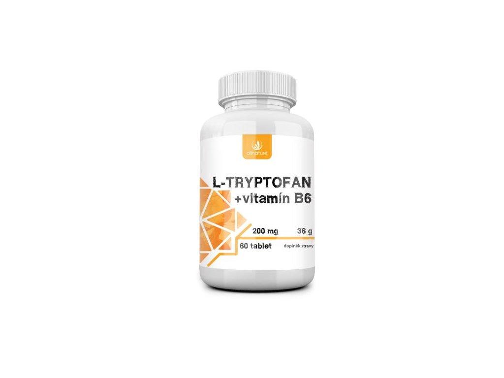 allnature l tryptofan 60tbl 200mg 2 5mg vit b6