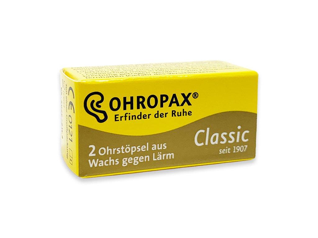 Ohropax Classic 1 pár špunty do uší kartonová krabička Earplugs cz