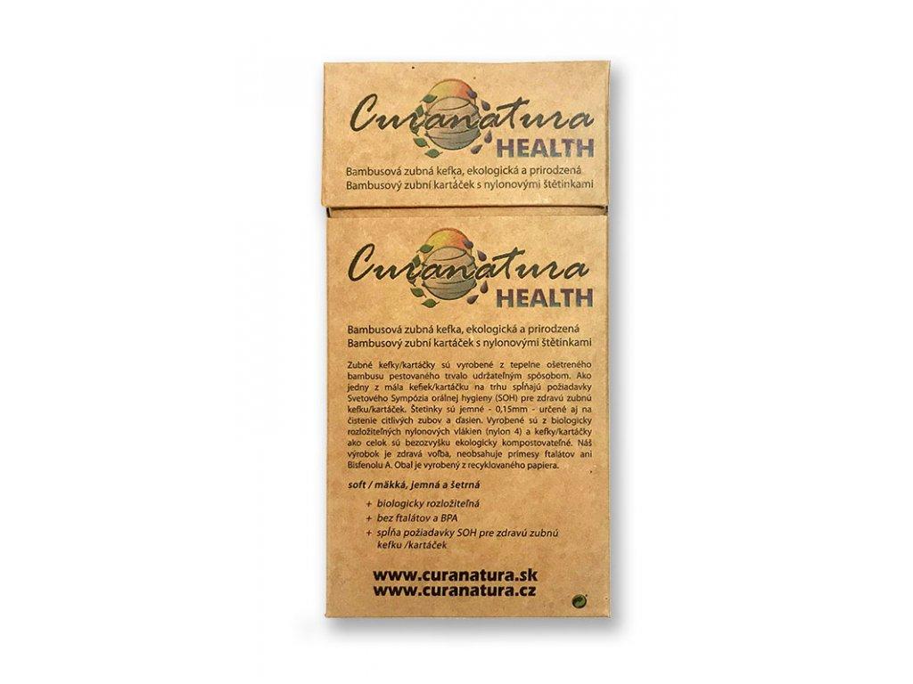 Curanatura Health dřevěné zubní kartáčky 12ks