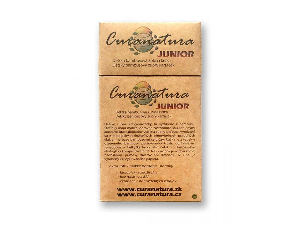 Curanatura Junior dětské bambusové kartáčky 12ks