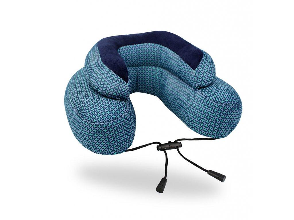 Cabeau Evo Microbead cestovní polštář z mikrokuliček modrý