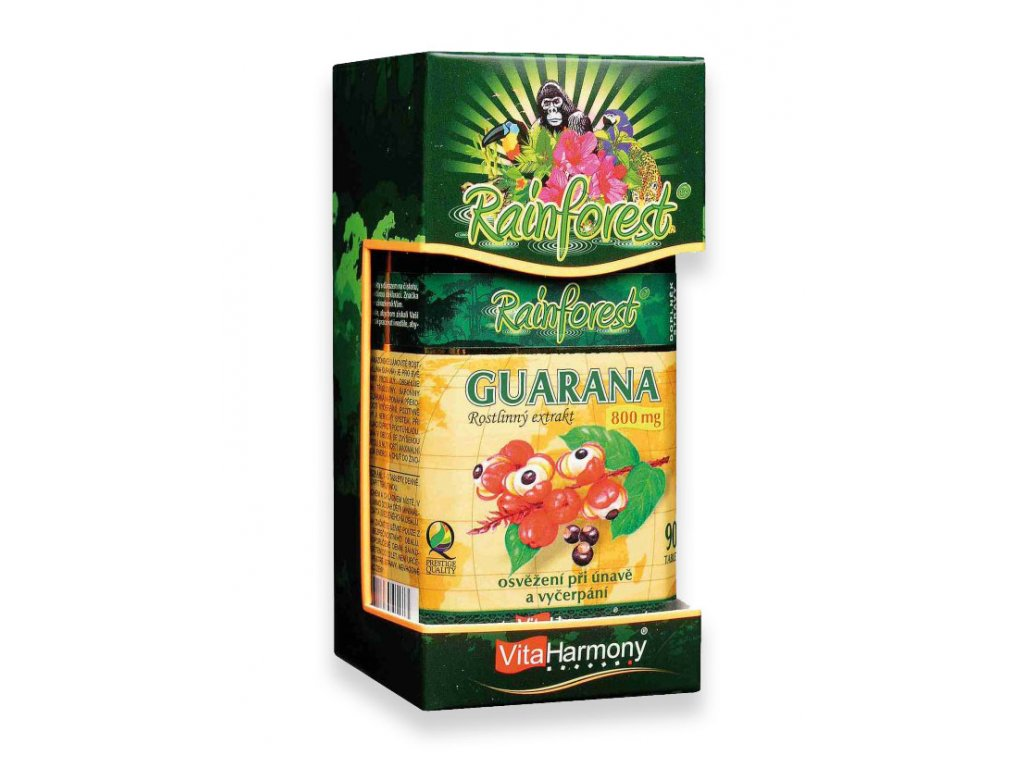 Rainforest Guarana 800 mg 90 tbl.