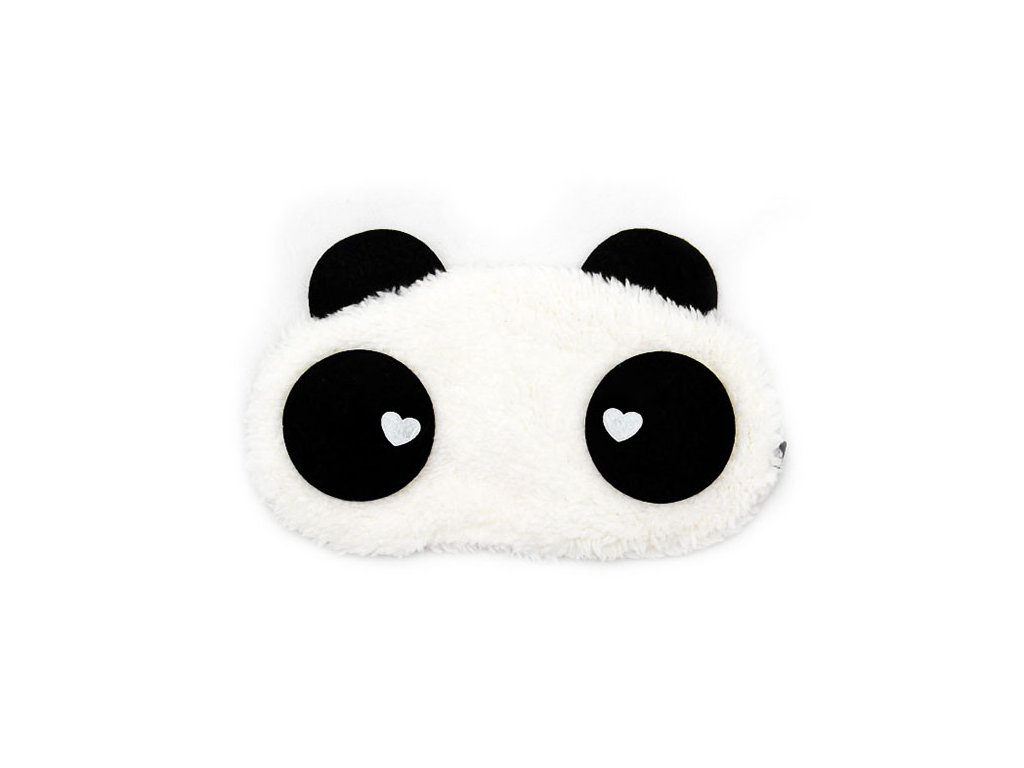 Panda Srdce Maska na oči na spaní Earplugs cz