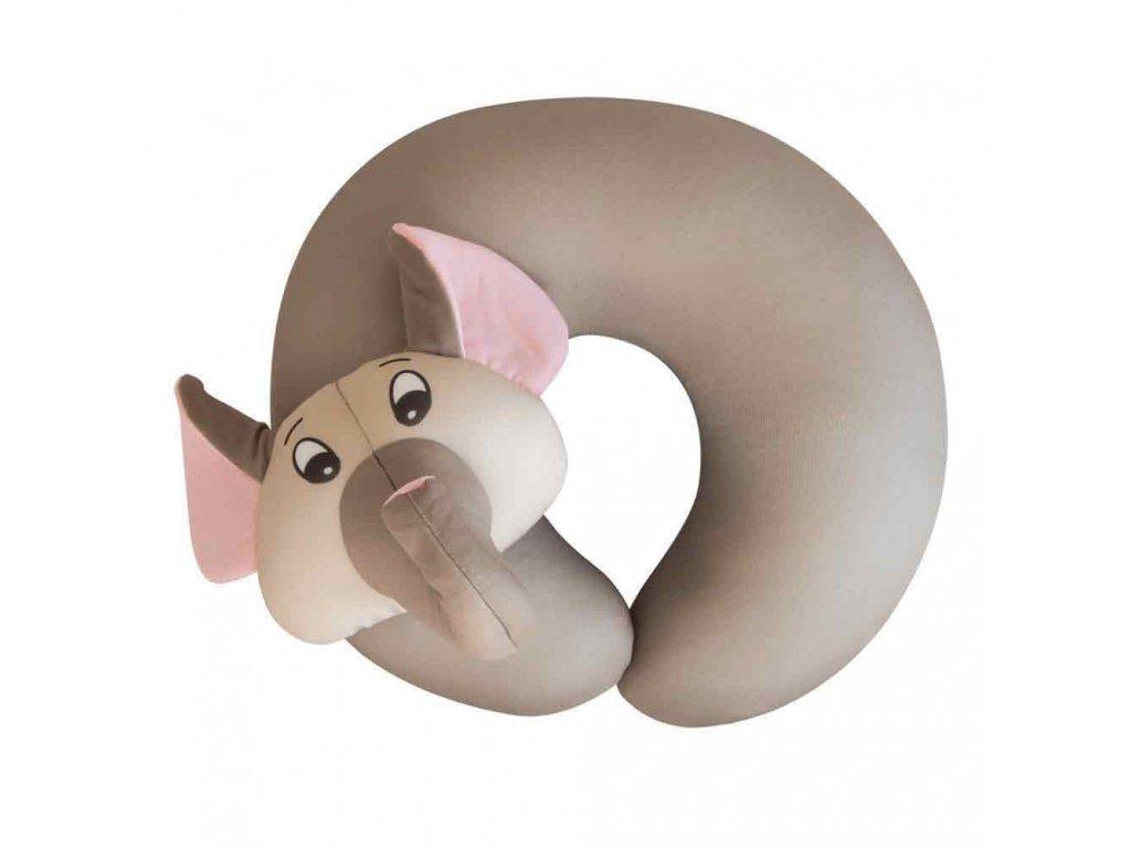 TravelBlue Dětský cestovní polštář Slon předek