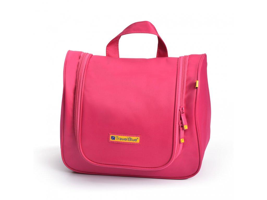TravelBlue velká cestovní toaletní kosmetická taška růžová