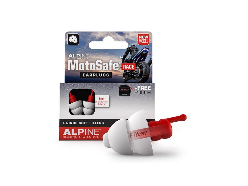Alpine MotoSafe Race Špunty do uší na motorku balení Earplugs cz
