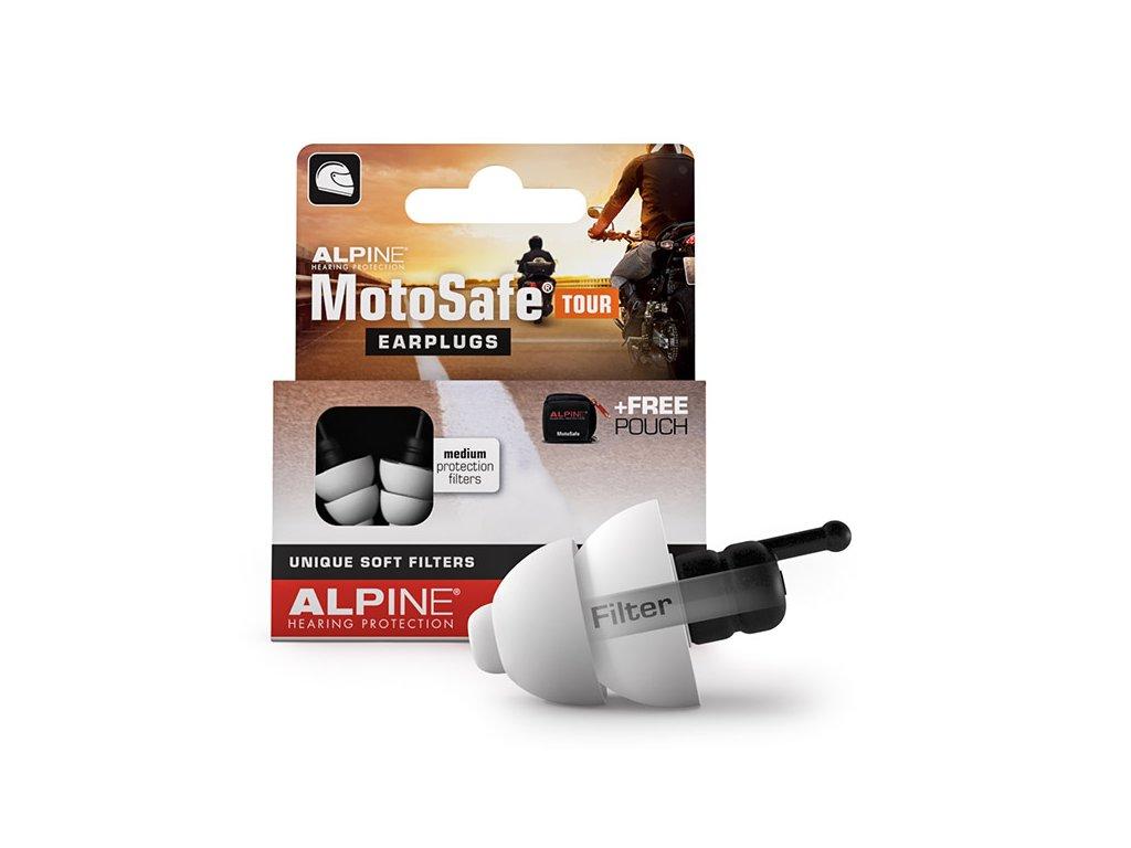 Špunty do uší na motorku Alpine MotoSafe Tour