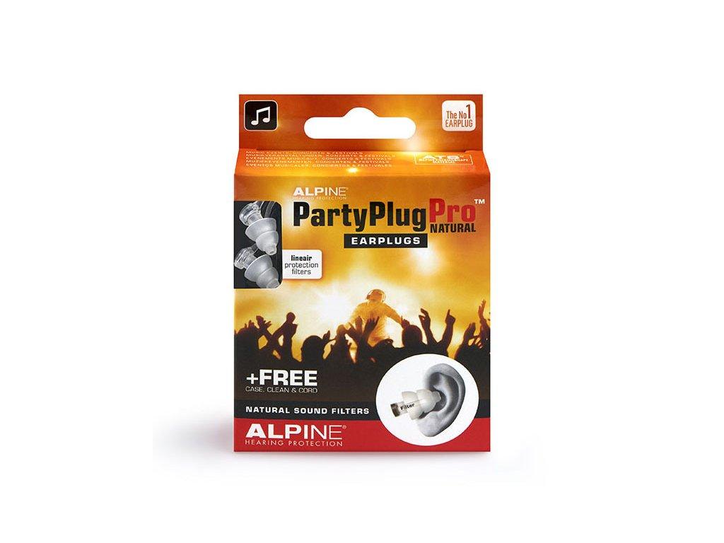 Alpine PartyPlug Pro Natural Špunty do uší pro muzikanty Earplugs cz