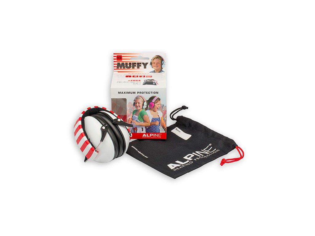 Alpine Muffy Bílá Chrániče sluchu pro děti sluchátka Baleni Earplugs cz