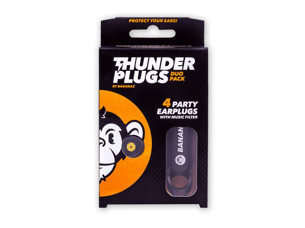 Bananaz Thunderplugs Duo špunty do uší na hlasitou hudbu