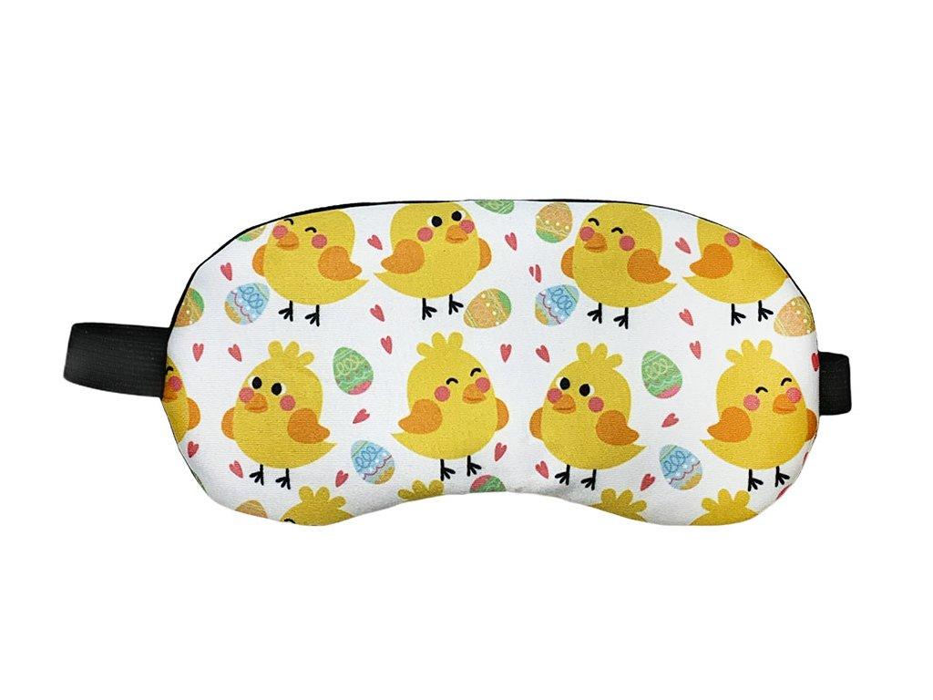 Maska na oči na spaní kuřátka