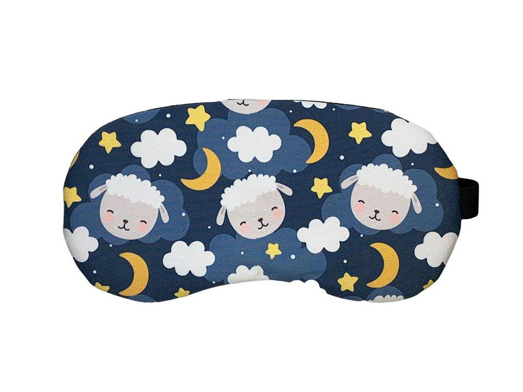 Maska na oči na spaní spící ovečky