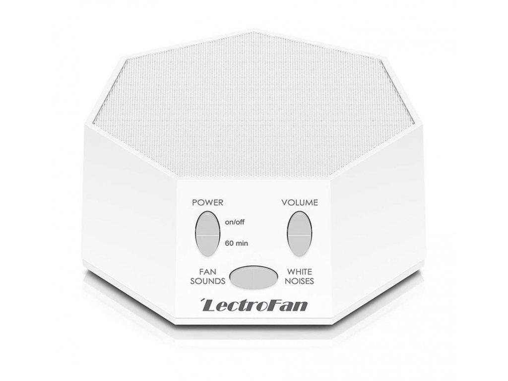 LectroFanClassic bílý přístroj na bílý šum pro lepší spánek přední strana