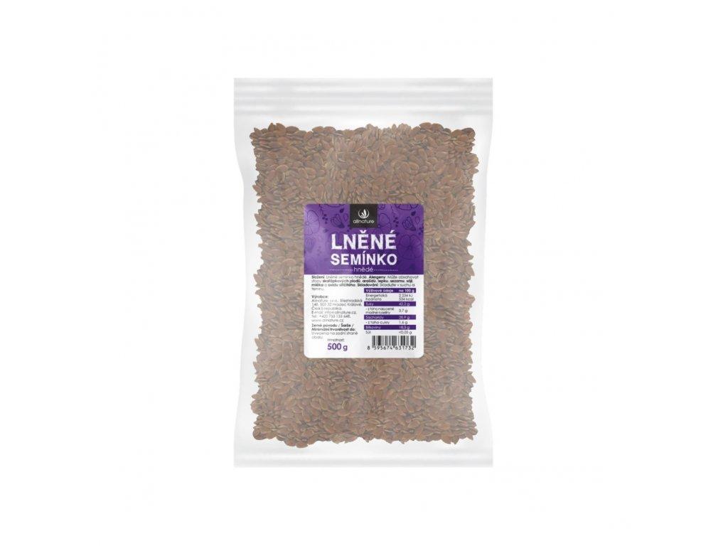 allnature lnene seminko hnede 500 g