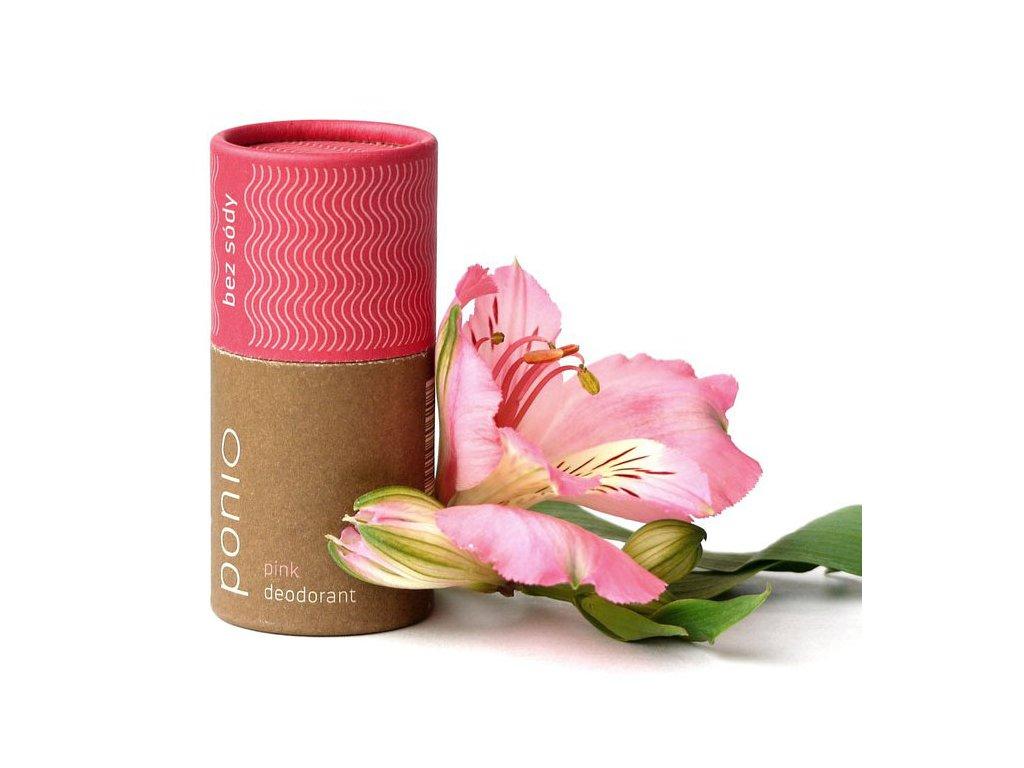 Ponio přírodní deodorant Pink, neobsahuje sodu