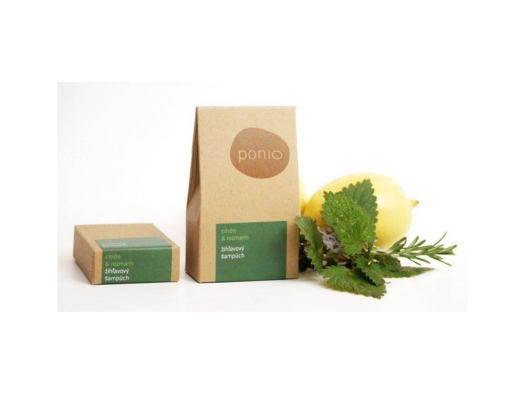 Ponio citron a rozmarýn tuhý kopřirový šampon 30g a 60g