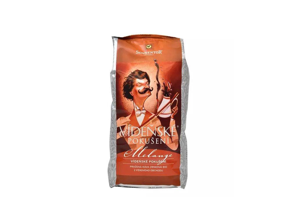 Vídeňské pokušení Melange pražená káva zrnková BIO z férového obchud