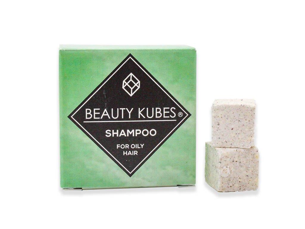 Beauty Kubes tuhý šampon pro mastné vlasy 27 kostek