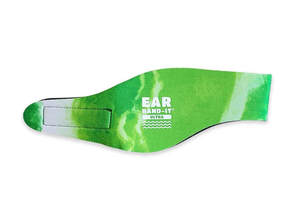 Ear band it Ultra batikovaná čelenka na plavání zelená