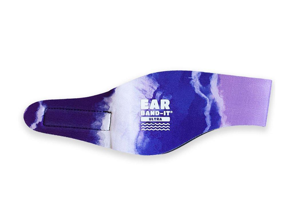 Ear band it Ultra batikovaná čelenka na plavání fialová