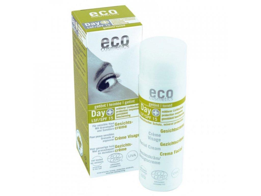 Eco Cosmetics Denní tónovací a opalovací krém SPF 15 BIO (50 ml)