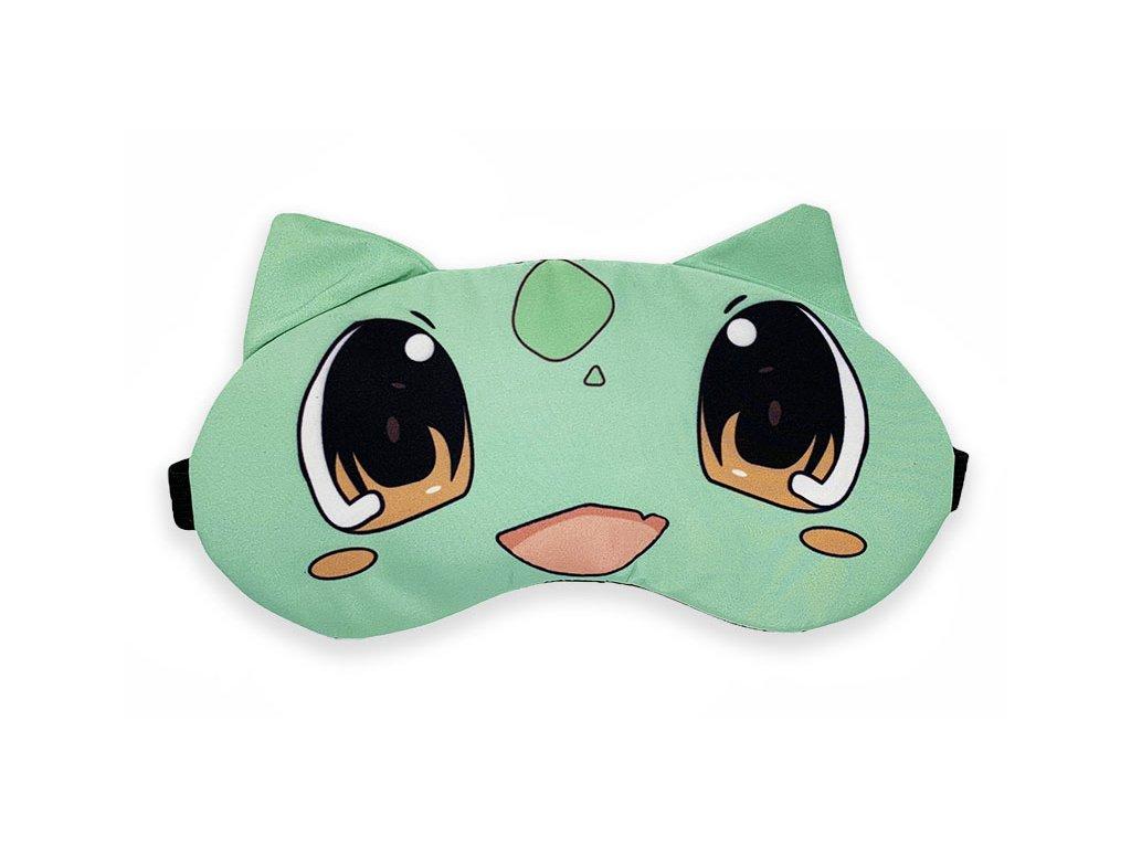 Maska na oči na spaní zelený bíložravec